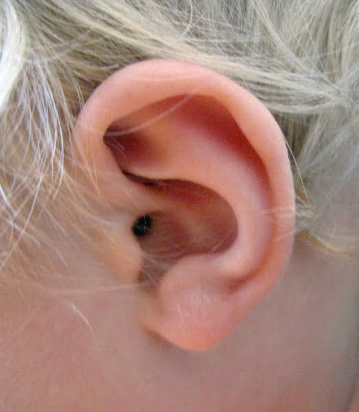 ett barns öra