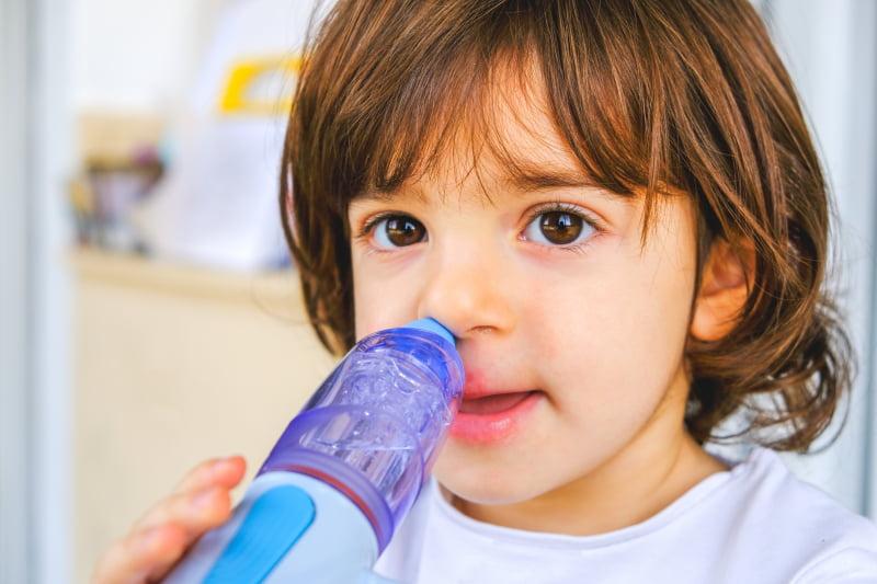 spola näsan vid bihåleinflammation