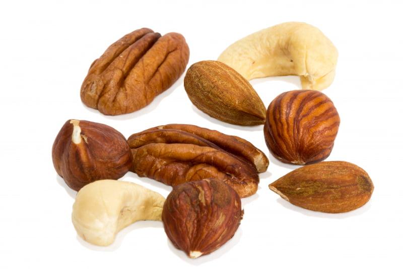 Nötter innehåller bra fetter